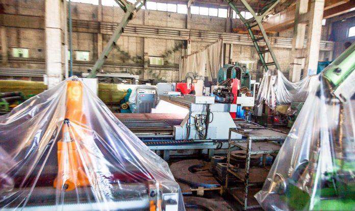 промышленность, завод закрыт