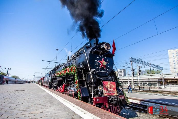 старый поезд, паровоз