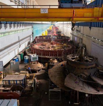Волжская ГЭС Машинный зал
