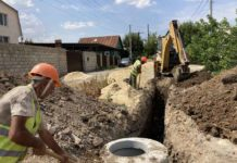 Новая канализация в пос. Тир